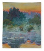 Morning Fog Fleece Blanket