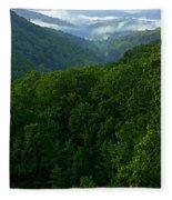 Morning Fog On Blue Ridge Fleece Blanket
