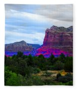 Glorious Morning In Sedona Fleece Blanket