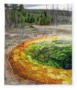 Morning Glory Pool - Yellowstone Fleece Blanket
