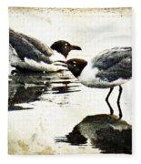 Morning Gulls - Seagull Art By Sharon Cummings Fleece Blanket