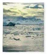 Morning Ice Flow Fleece Blanket