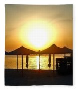 Morning In Greece Fleece Blanket