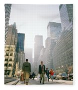 Morning In Manhattan Fleece Blanket