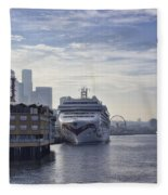 Morning In Seattle Fleece Blanket