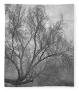 Morning In The Fog. M Fleece Blanket