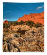 Morning Light At Garden Of The Gods Fleece Blanket