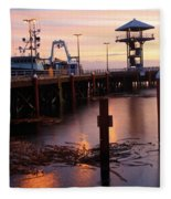 Morning Light At Port Angeles Fleece Blanket