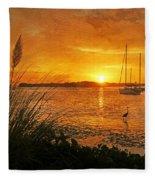 Morning Light - Florida Sunrise Fleece Blanket