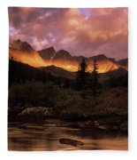 Morning Light Maligne Pass Fleece Blanket