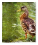 Morning Mallard Fleece Blanket