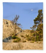 Morning Mammoth Moon Fleece Blanket
