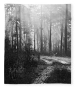 Morning Mist In Monochrome Fleece Blanket