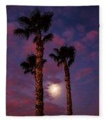Morning Moon Fleece Blanket