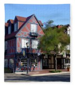 Morning On 2nd Street Solvang California Fleece Blanket