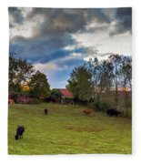Morning On The Farm Four Fleece Blanket