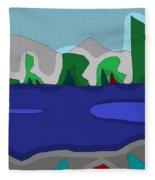 Morning On The Fraser River Near Maple Ridge Fleece Blanket