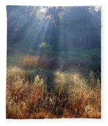 Morning Rays Through Live Oaks Fleece Blanket