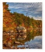 Morning Reflection Of Fall Colors Fleece Blanket