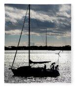 Morning Sail Fleece Blanket
