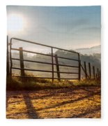Morning Shadows Fleece Blanket