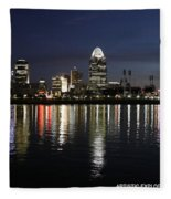 Morning Skyline Wo Bridge I Fleece Blanket