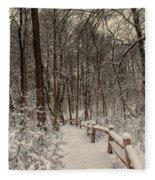 Morning Snow Path Fleece Blanket