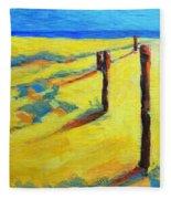 Morning Sun At The Beach Fleece Blanket