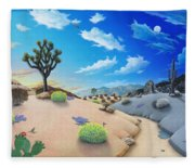 Joshua Tree Morning To Night Fleece Blanket