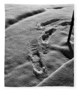 Mornings First Footprints  Fleece Blanket