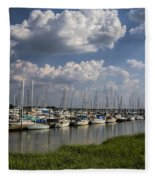 Morningstar Marina Boat Harbor Georgia Fleece Blanket