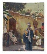 Moroccan Scene Fleece Blanket