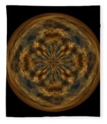 Morphed Art Globe 29 Fleece Blanket