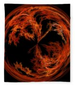Morphed Art Globe 37 Fleece Blanket