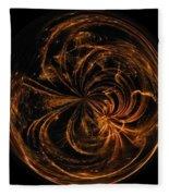 Morphed Art Globe 40 Fleece Blanket