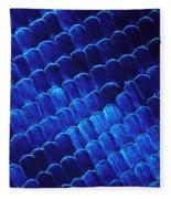 Morpho Butterfly Scales Fleece Blanket