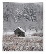 Morris Arboretum Mill In Winter Fleece Blanket