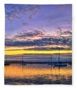 Morro Bay Panorama Fleece Blanket