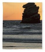 Morro Beach Sunset Fleece Blanket