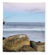 Morro Rock Morning Fleece Blanket