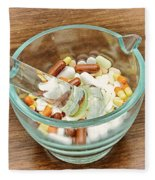 Mortar And Pestle With Drugs Fleece Blanket