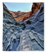 Mosaic Canyon In Death Valley Fleece Blanket