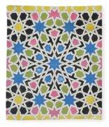 Mosaic Design From The Alhambra Fleece Blanket