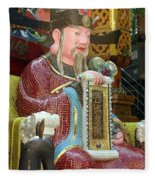 Mosaic Figure With Scroll Fleece Blanket