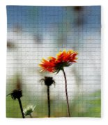 Mosaic Flower Fleece Blanket