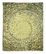 Mosaic Galaxy In Gold Fleece Blanket