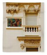 Mosaic In Nice France Fleece Blanket