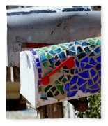 Mosaic Mailbox On The Turquoise Trail In New Mexico Fleece Blanket