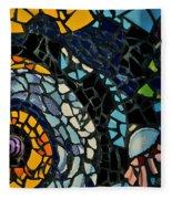Mosaic Pattern On Wall Fleece Blanket