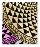 Mosaic Quarter Circle Bottom Left  Fleece Blanket
